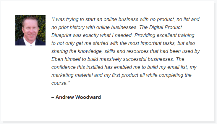 digital product blueprint testimonials
