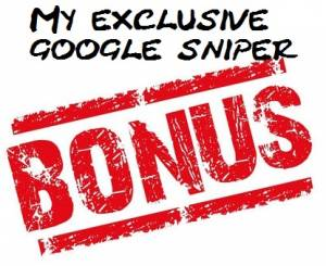 Google Sniper bonus