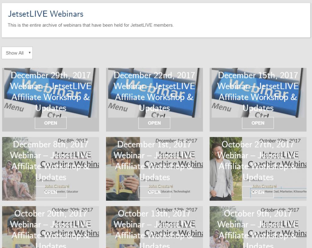 JetsetLIVE webinars