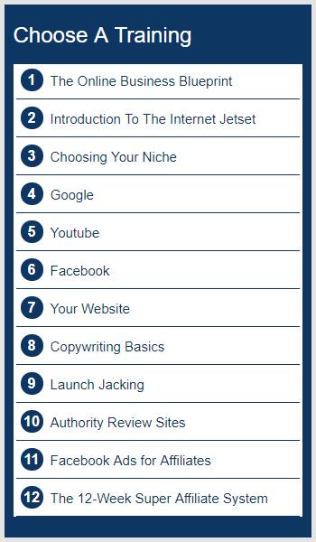 Internet jetset course