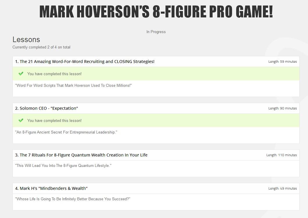 Mark Hoverson's Pro Course