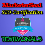 MarketerSeal SEO Certification Testimonials