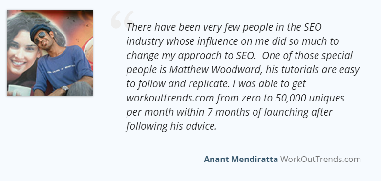 MarketerSeal SEO Certification testimonial